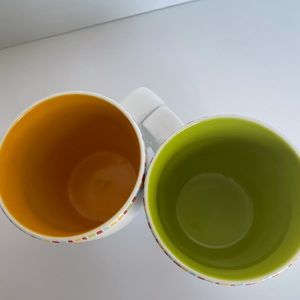 Set of two colourful mugs